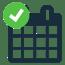 Calendar tick symbol