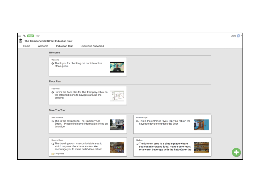 New slides page